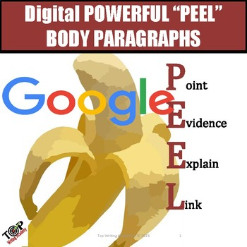 Expository Informative PEEL Body Paragraphs Google Digital