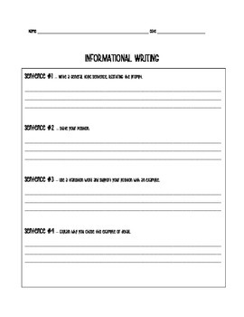 Expository/Informative Writing Graphic Organizer