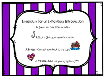 Expository Introduction Task Cards