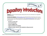 Expository Introductions Task Cards