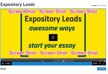 Expository Leads Minilesson Video and Worksheet