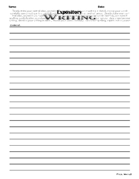 Expository Lined Essay Sheet