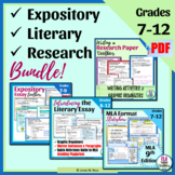 Expository, Literary, and Research Writing for Middle School