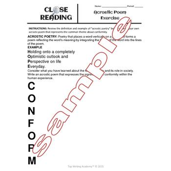 "Non-Fiction Close Reading ""Conformity"""