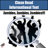 "Halloween Non-Fiction Close Reading ""Zombies"""