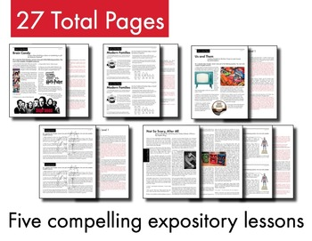 Expository, Non-Fiction Lessons on Modern Issues: Bundle #1 of 5 Lessons, CCSS