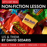 Expository, Non-Fiction Lesson on Modern Issues: Personal Greed and Sacrifice?