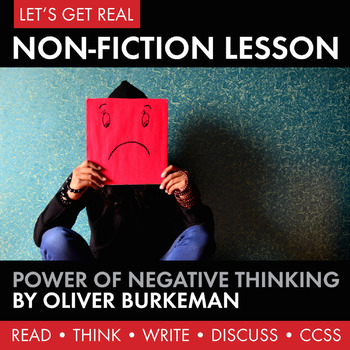 Expository, Non-Fiction Lesson on Modern Issues: The Power of Negative Thinking