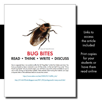 Expository, Non-Fiction Lesson on Modern Issues: You Eat Bugs Every Single Day