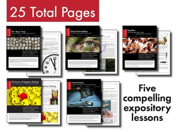 Expository, Non-Fiction Lessons on Modern Issues: Bundle #2 of 5 Lessons, CCSS