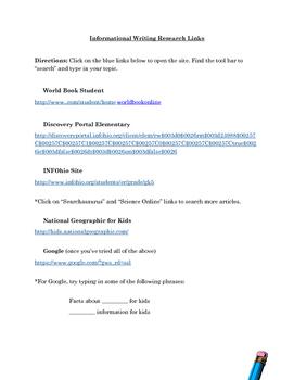 Informational Writing Unit *No Prep Printables and Editables** Grades 4-6