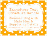 Expository/Nonfiction Text Bundle! {Summarizing w/ Main Idea & Details}