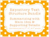 Expository/Nonfiction Text Bundle! Summarizing w/ Main Idea & Details