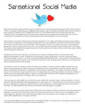 Expository / Opinion Writing Test Prep (2 sources) Kids Using Social Media