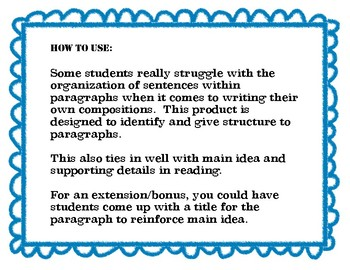 Expository Paragraph Scramble