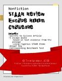 STAAR Review: Nonfiction Escape Room Challenge - with Bonus Benchmark Test!