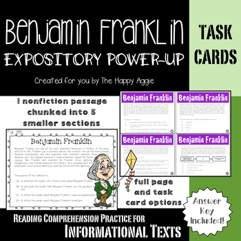 Expository Power-Up (Task Cards): Benjamin Franklin