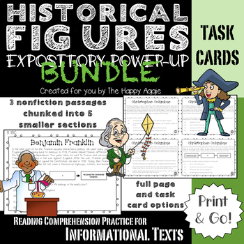 Expository Power-Up (Task Cards) Bundle: Historical Figures