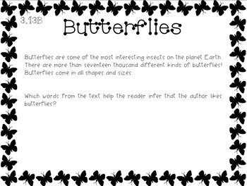 Expository Power-Up (Task Cards): Butterflies