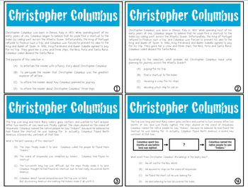 Expository Power-Up (Task Cards): Christopher Columbus