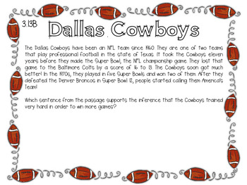 Expository Power-Up (Task Cards): Dallas Cowboys
