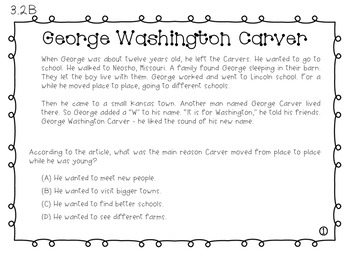 Expository Power-Up (Task Cards): George Washington Carver