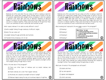 Expository Power-Up (Task Cards): Rainbows Extended Edition