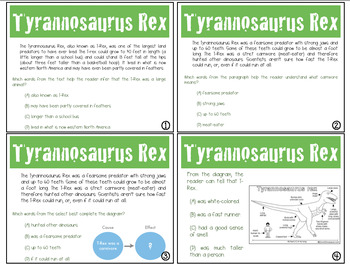 Expository Power-Up (Task Cards): Tyrannosaurus Rex