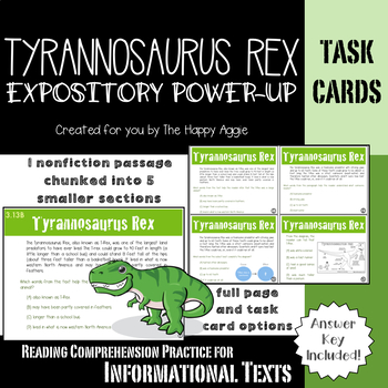 Expository Power-Up: Tyrannosaurus Rex (Level 1)