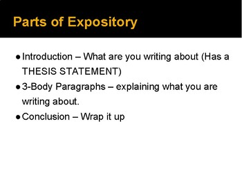 Expository Powerpoint
