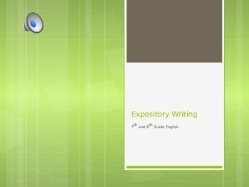 Expository Powerpoint - With activities