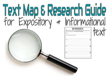 Expository Pre-Writing Text Map/ Research Tool