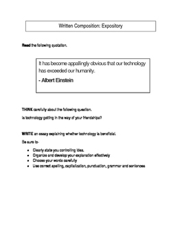 Expository Prompt