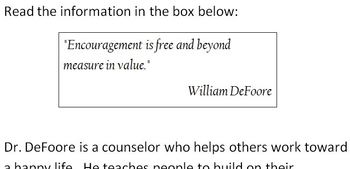Expository Prompt for STAAR English EOC - Importance of Encouragement