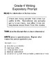 Expository Prompts 4th Grade STAAR Format