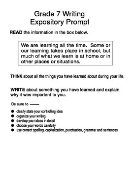 Essay prompts for 7th graders mistyhamel