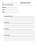 Expository Reading Reflection Sheet