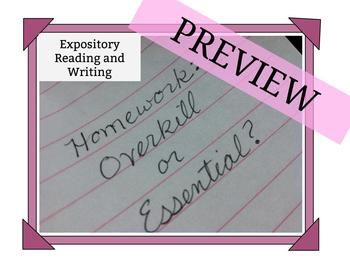 "Expository Reading and Writing ""Homework: Overkill or Essential?"""