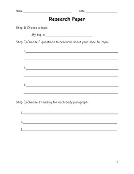 Expository Research Paper Packet