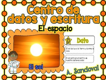 Informational Text Sort/Writing Center -SPACE in Spanish