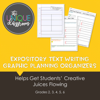 Expository Text Writing Graphic Planning Organizers