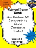 Expository Text: How Pokemon Go Conquered the World STAAR formatted