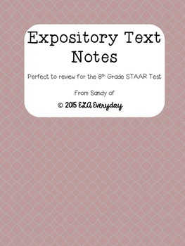 Expository Text Notes - 8th Grade