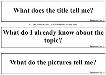 Expository Text Questions (for pocket chart)