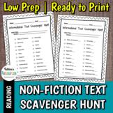 Non-Fiction Informational Text Features Scavenger Hunt