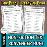 Informational Text Features Scavenger Hunt
