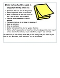 Expository Text Sticky Notes and Reading Response Graphic Organizer
