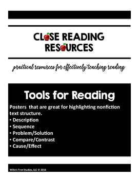Expository Text Structure Charts for Students