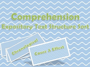 Expository Text Structure Sort