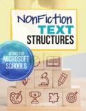 Nonfiction Text Structures Passages & Graphic Organizers
